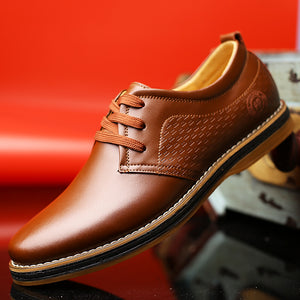 Round-headed Lacing Sewing Men's Formal Shoes
