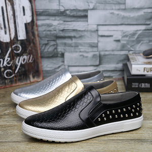 Breathable Plain Rivet Men's Loafers