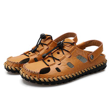 Large-size Hollow-out Soft-bottom Beach Men's Sandals