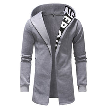 Letter Splicing Solid Color Cotton Men's Hoodie