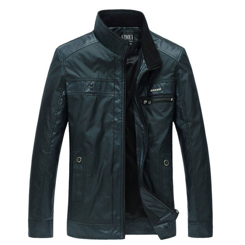 Warm Zippered Plain Comfortable Men's Jacket