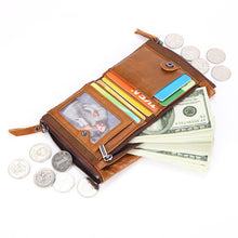 Short Paragraph Coin Purse Zippered Men's Wallets