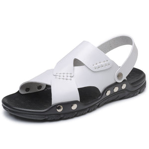 Large-scale Splicing Anti-skid Beach Men's Sandals
