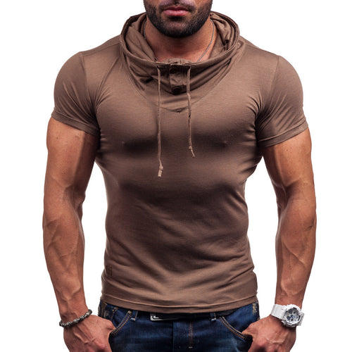 Pure Short Sleeve Stack Collar Men's T-shirt
