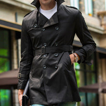 Regular Windproof Pure Color Men's Trench Coat