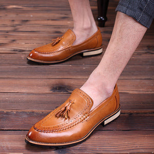 Breathable Tassels Hair Stylist Men's Casual Shoes
