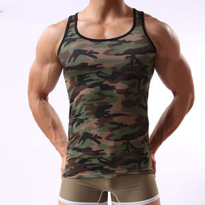 Camouflage Sleeveless Slim Men's Vest