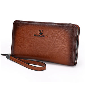 Casual Genuine Leather Long Wallet