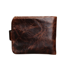 Oil wax leather Casual wallet