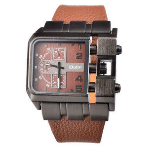 Unique Design Square Men Wristwatch Wide