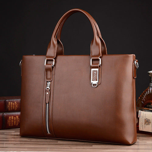 Fashion Zipper Business Handbag