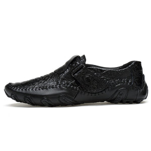 Alligator Pattern Large Size Casual Shoes