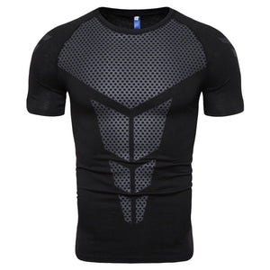 Triangle Printing Elasticity Men's T-shirt