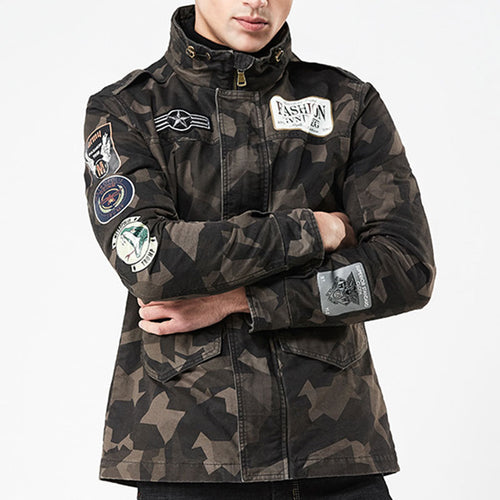 Camouflage Stand Collar Casual Men's Jacket