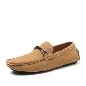 Real Leather Frosted Casual Shoes
