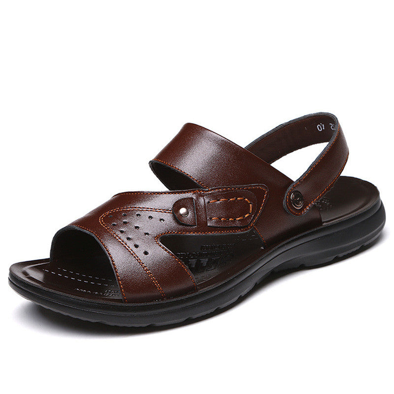 Beach Casual Leather Sandals