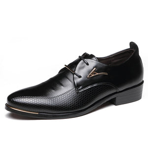 New Mens Leather Shoes Large Size Korean Version Of The Pointed Male Shoes Business Dress Casual Shoes Shoes