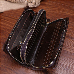 Business Double Zipper Handbag