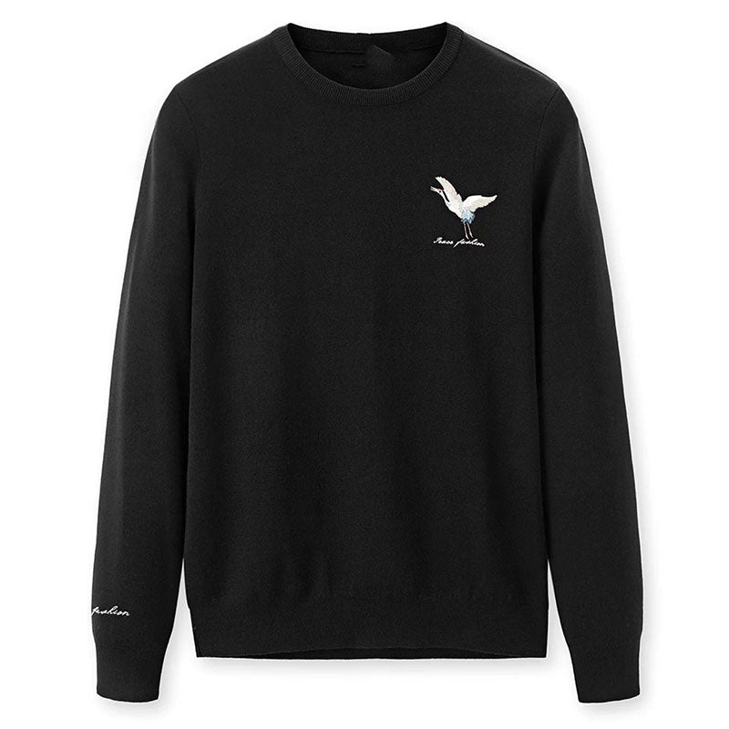 Animal Long Sleeve Pullover Round Neck Men's Hoodie