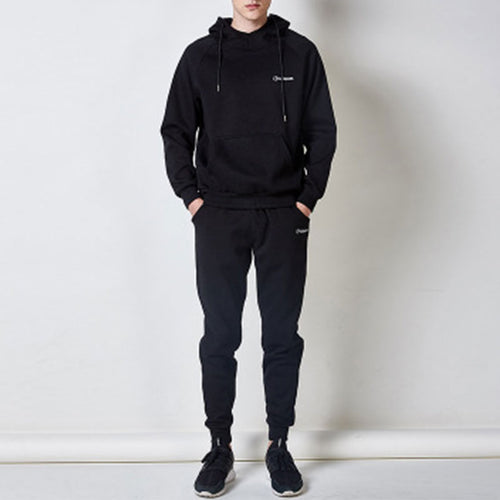Hooded Pocket Solid Color Comfortable Men's Sports Suit