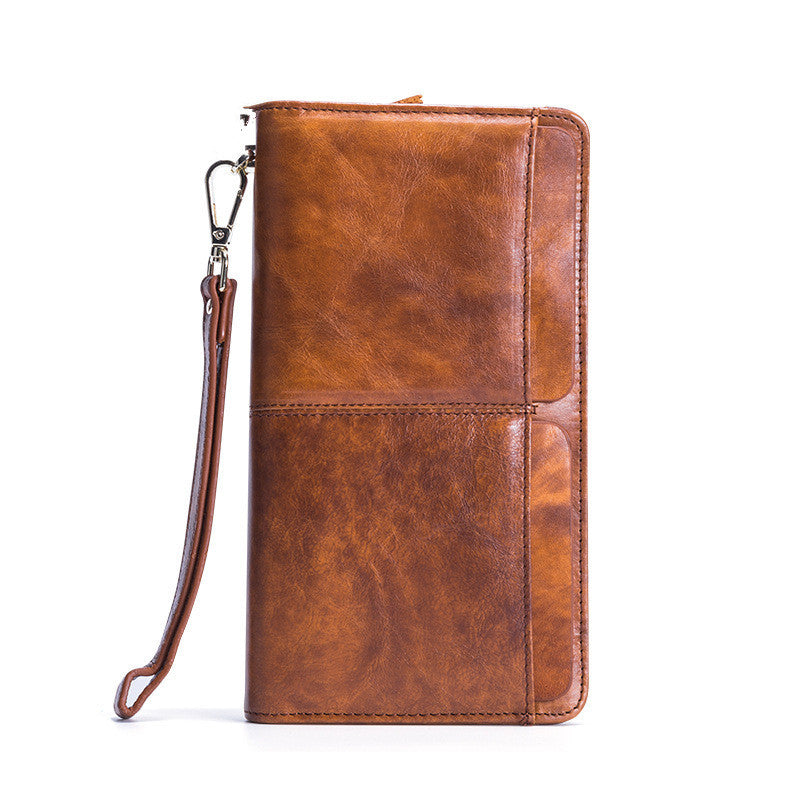 Real Leather Casual Zipper Wallet