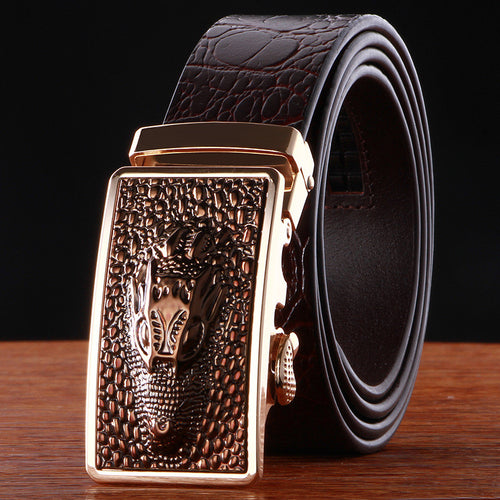 Real Leather Alligator Pattern Belts