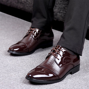 Patent Leather Breathable Shoes