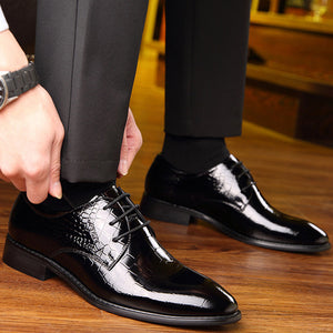 Dress with Business Men's Leather Shoes