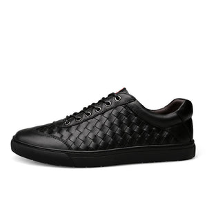 Fashionable leather woven Casual Shoes