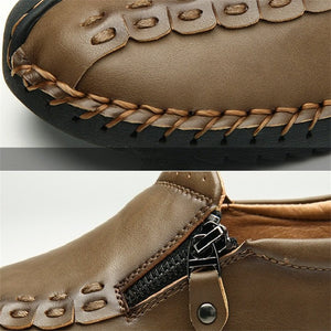 Hand-made Zipper Casual Shoes