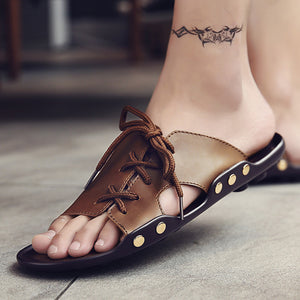 Casual  Lace-up Beach Sandal