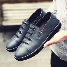 antislip Ventilation leather men's casual shoes
