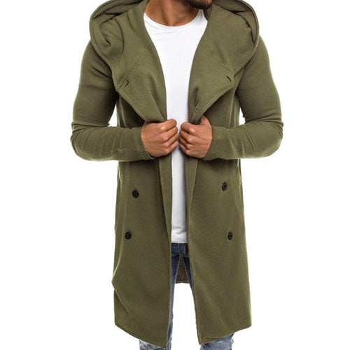Single-Breasted Solid Color Cotton Printing Men's Jackets Coat