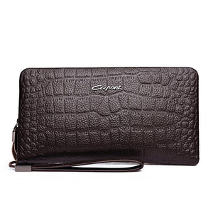 Croco Print High Capacity Men's Wallets