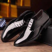 Men's Business Hollowed-out Leather Sandals