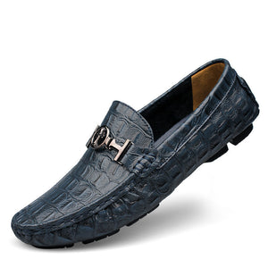 Alligator Soft Leather Loafers Mens Shoes