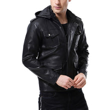 Pure Color Comfort Locomotive Cap Men's Pleather Coat