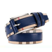 Colored Head Layer Leather Belt