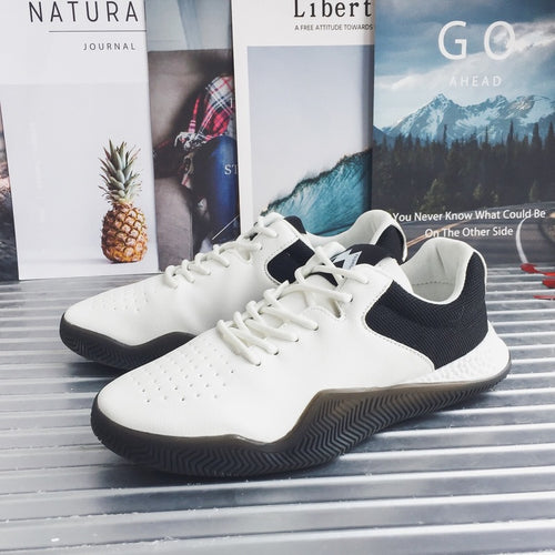 Breathable Plain Lace Up Men's Sneakers