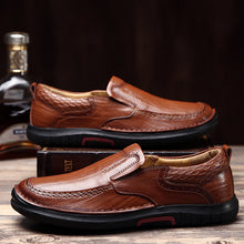 Round Head Casual Leather Shoes