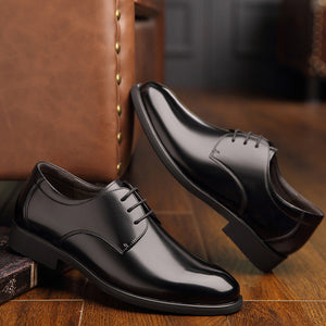Black Casual Leather Breathable Shoes