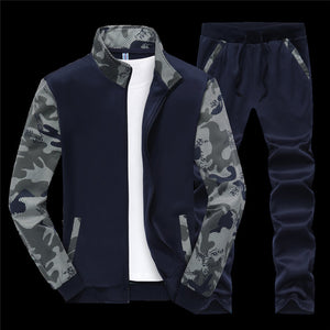 Camouflage Casual Sports Regular Men's Track Suits