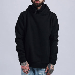 Pure Color Loose Hooded Pullover Men's Hoodie