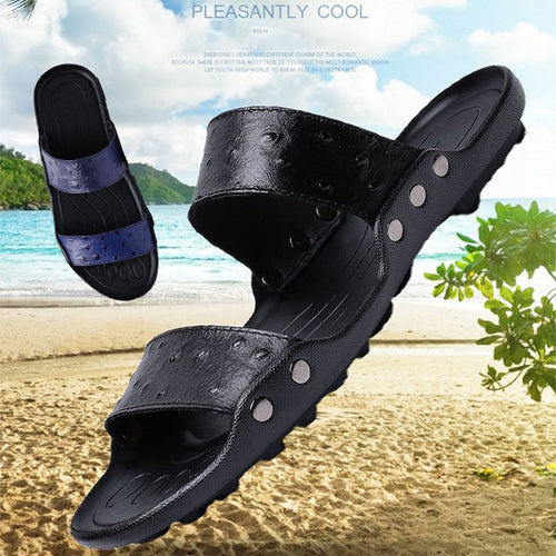 Large Size  Anti-skid Beach Men's Slippers