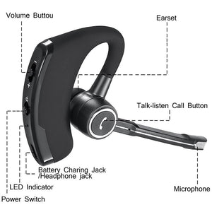 Intelligent Stereo Bluetooth V4.1 Wireless With MIC Earphone