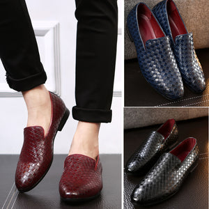 Breathable Pointed Toe Slip On Men's Oxfords