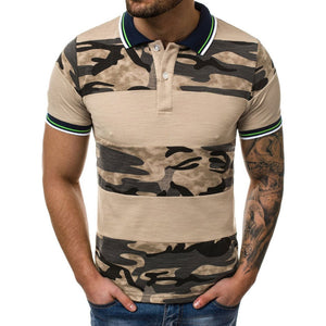 Stitching Printing Camouflage Men's T-shirt