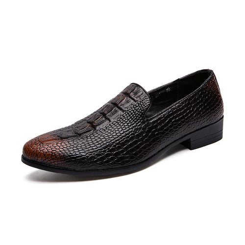 Round Toe Wear Resistant Slip On Men's Oxfords