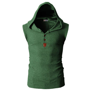 Cotton Leisure Cap Button Men's Vest