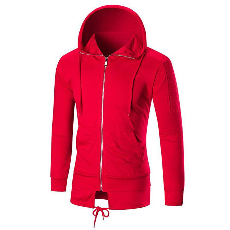 Big Size Solid Color For Self-cultivation And Cap Men's Hoodies